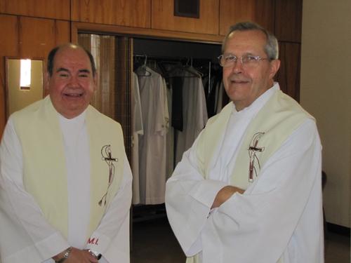 Fr. Tom Ovalle, OMI and Fr. David Kalert, OMI